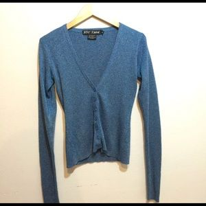 Vintage Betsy Johnson blue cardigan